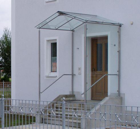 Windfang Hauseingang Glas überdachungen